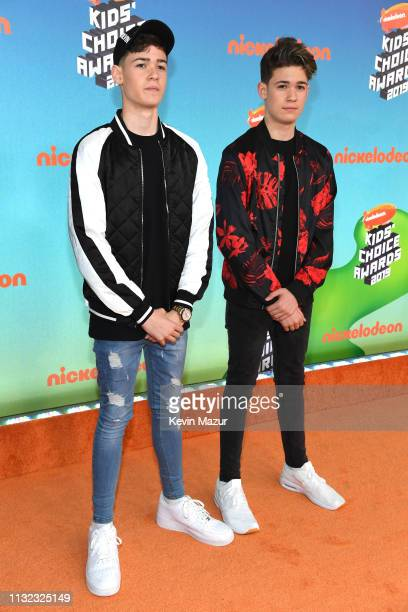 Max Harvey attends Nickelodeon's 2019 Kids' Choice Awards at Galen Center on March 23 2019 in Los Angeles California