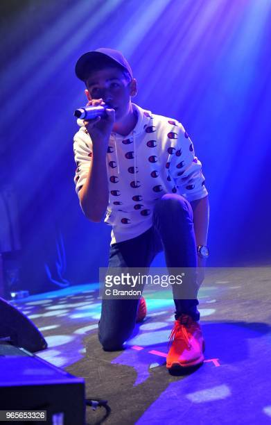 Max Harvey perform on stage at the O2 Shepherd's Bush Empire on June 1 2018 in London England