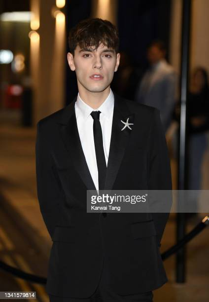 Max Harwood attends the British Vogue x Tiffany & Co. Fashion and Film party at The Londoner Hotel on September 20, 2021 in London, England.