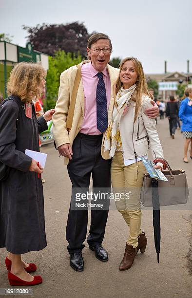 Max Hastings and Lady Rothermere attend the Chelsea Flower Show press and VIP preview day at Royal Hospital Chelsea on May 20 2013 in London England