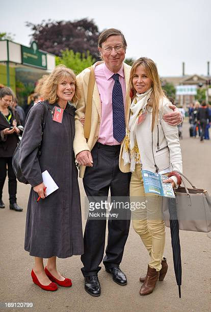 Max Hastings and Lady Rothermere attends the Chelsea Flower Show press and VIP preview day at Royal Hospital Chelsea on May 20 2013 in London England