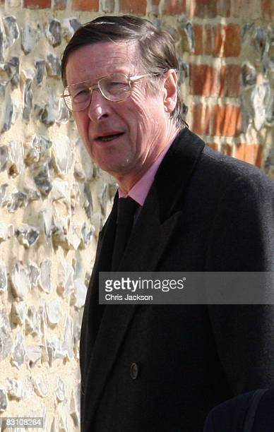 Max Hastings attends a thanksgiving service for his godfather Gerald Ward at St Mary's Church Chiltern Foliat on October 3 2008 in Hungerford England...