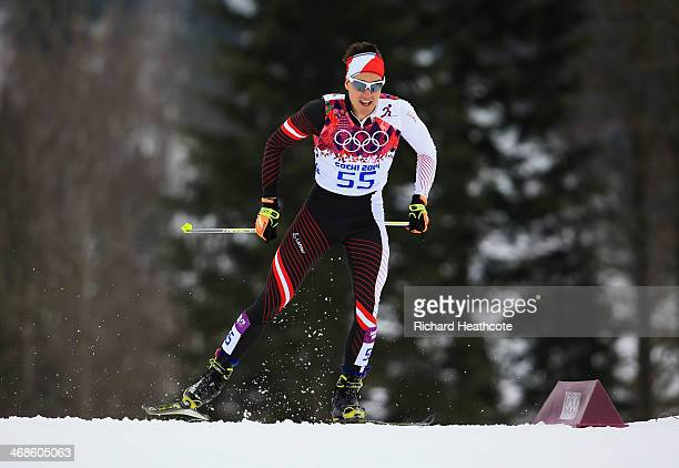 Max Hauke of Austria competes in Qualification of the Men's Sprint Free during day four of the Sochi 2014 Winter Olympics at Laura Crosscountry Ski...
