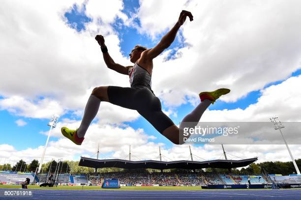 Max Heb of Germany competes in the Mens Triple Jump Final during day three of the European Athletics Team Championships at the Lille Metropole...