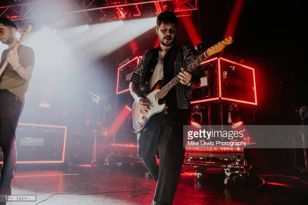 Max Helyeh of You Me At Six performs at O2 Academy Bristol on September 06, 2021 in London, England.