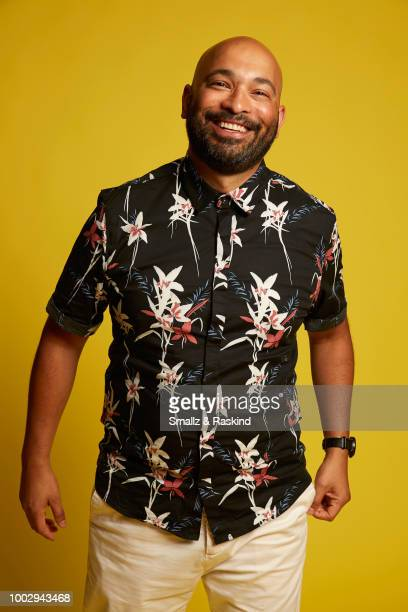Max Hernandez from ATT AUDIENCE Network's 'Mr Mercedes' poses for a portrait in the Getty Images Portrait Studio powered by Pizza Hut at San Diego...