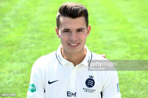 Max Holden of Middlesex CCC poses for a portrait during their media day at Lord's Cricket Ground on April 5 2017 in London England