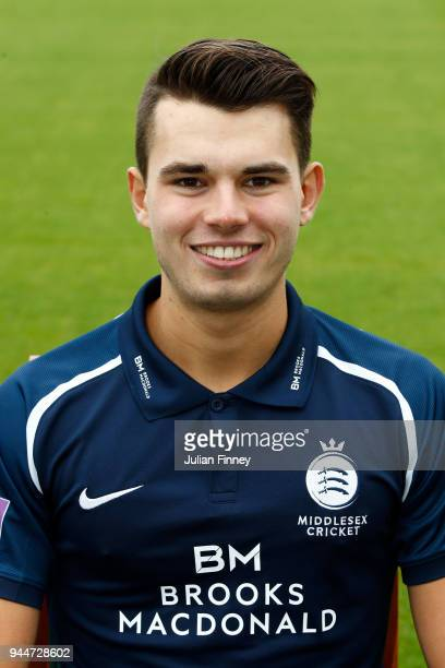 Max Holden of Middlesex poses for a photo during Middlesex CCC Photocall at Lord's Cricket Ground on April 11 2018 in London England