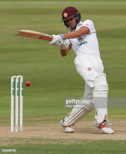 Max Holden of Northamptonshire bats during the Specsavers County Championship Division Two match between Northamptonshire and Gloucestershire at The...