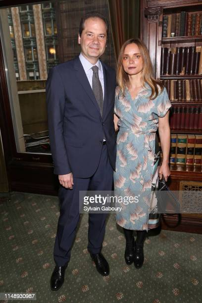 Max Hollein and Nina Hollein attend AAF Cultural Luncheon at The Metropolitan Club on May 13, 2019 in New York City.