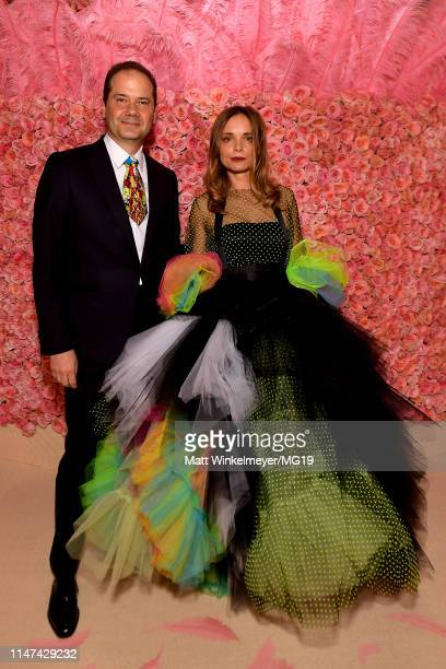 Max Hollein and Nina Hollein attend The 2019 Met Gala Celebrating Camp: Notes on Fashion at Metropolitan Museum of Art on May 06, 2019 in New York...