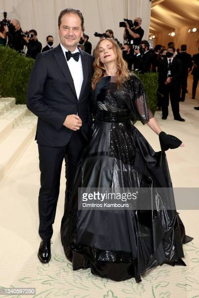 Max Hollein and Nina Hollein attend The 2021 Met Gala Celebrating In America: A Lexicon Of Fashion at Metropolitan Museum of Art on September 13,...