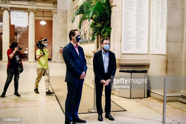 Max Hollein, director of the Metropolitan Museum of Art, and Daniel H. Weiss, president and chief executive officer of the Metropolitan Museum of...