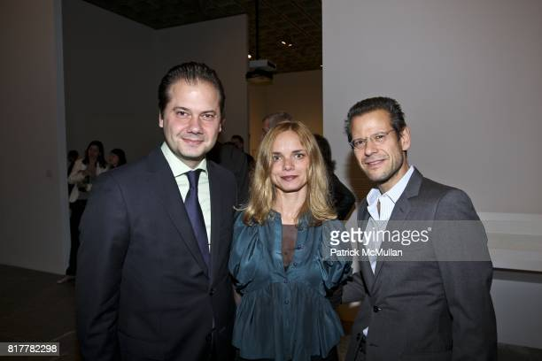Max Hollein, Nina Hollein and Kenny Schachter attend PAUL THEK: DIVER, A RETROSPECTIVE, Dinner at Whitney Museum on October 20, 2010 in New York City.