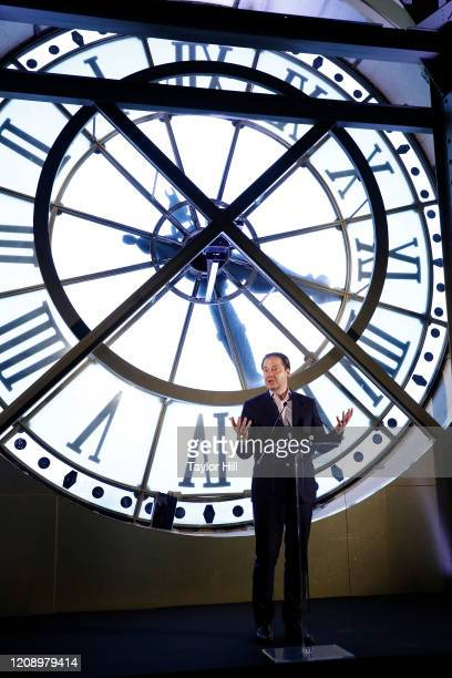 Max Hollein speaks during the press preview of About Time Fashion and Duration the 2020 Metropolitan Museum of Art Costume Institute exhibition at...