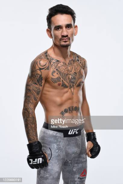 Max Holloway poses for a portrait during a UFC photo session on July 7, 2020 in Yas Island, Abu Dhabi, United Arab Emirates.