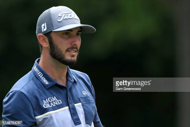 Max Homa looks on from the sixth hole during the second round of the 2019 Wells Fargo Championship at Quail Hollow Club on May 03 2019 in Charlotte...