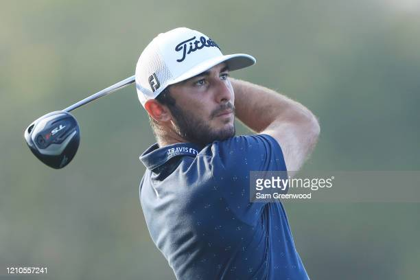 Max Homa of the United States plays his shot from the 12th tee during the first round of the Arnold Palmer Invitational Presented by MasterCard at...