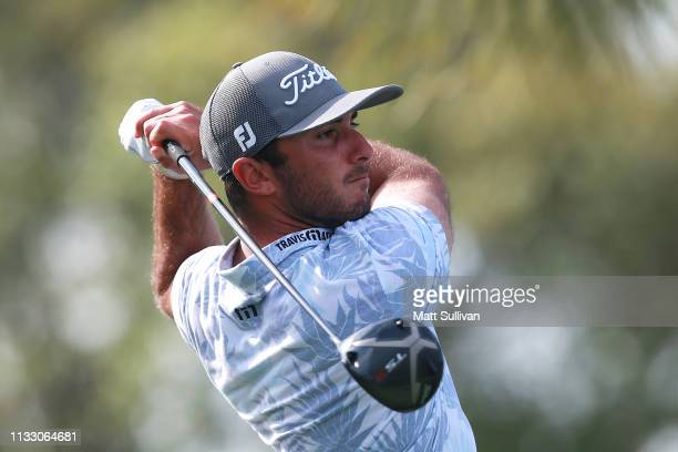 Max Homa plays his shot from the 18th tee during the second round of the Honda Classic at PGA National Resort and Spa on March 01 2019 in Palm Beach...