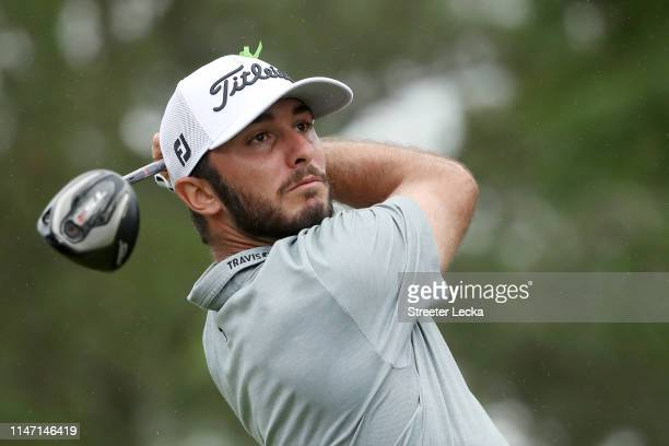 Max Homa plays his shot from the third tee during the final round of the 2019 Wells Fargo Championship at Quail Hollow Club on May 05 2019 in...