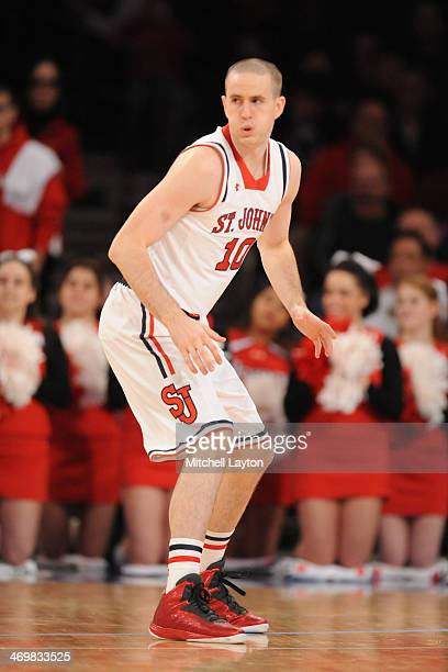 Max Hooper of the St John's Red Storm in position during a college basketball game against the Marquette Golden Eagles on February 1 2014 at Madison...