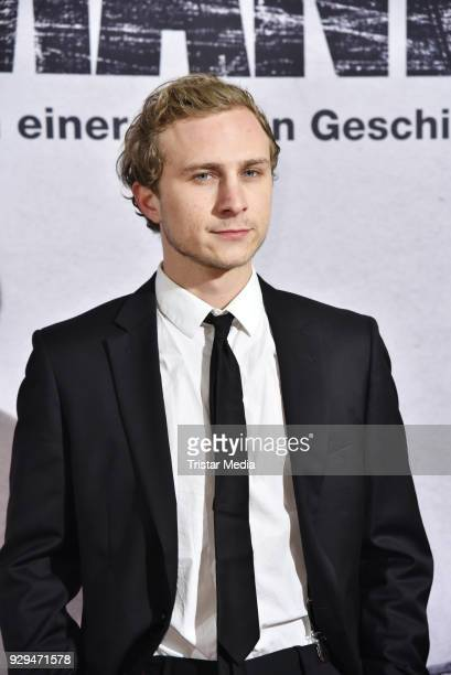 Max Hubacher attends the premiere of 'Der Hauptmann' at Kino International on March 8 2018 in Berlin Germany