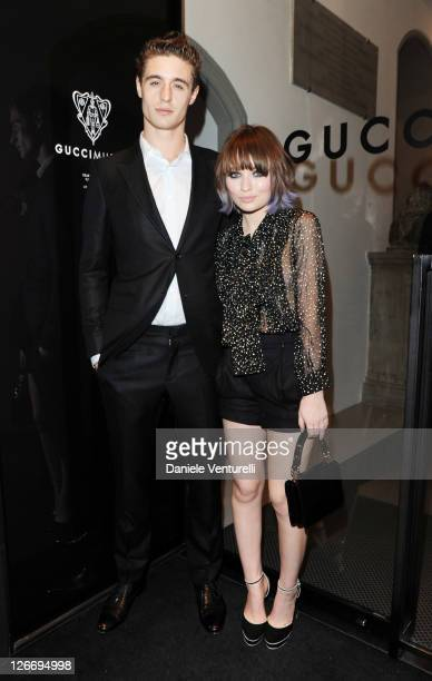 Max Irons and Emily Browning attend the Gucci Museum opening on September 26 2011 in Florence Italy
