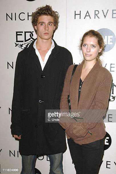 Max Irons and guest during Edun One Launch Party at Harvey Nichols in London Great Britain