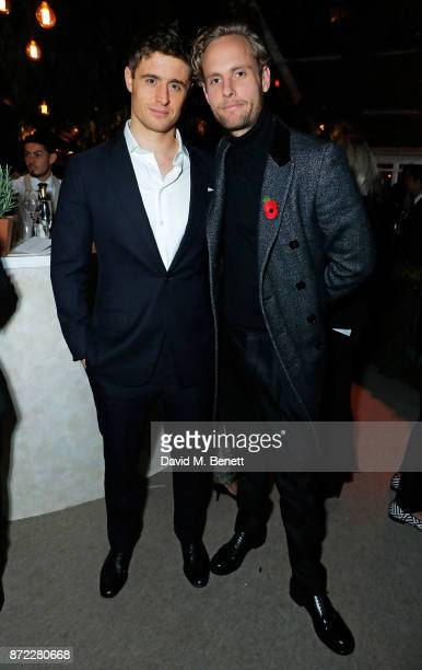 Max Irons and Jack Fox attend Bottega Veneta's 'The Hand of the Artisan Cocktail Dinner' at Chiswick House And Gardens on November 9 2017 in London...