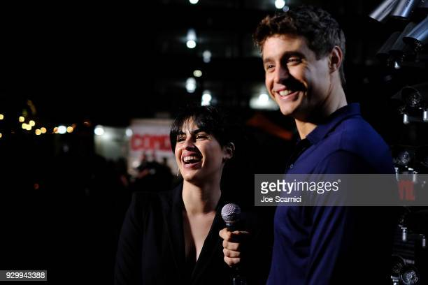 Max Irons and Leem Lubany attend the ATT AUDIENCE Network Party at 2018 SXSW on February 9 2018 in Austin Texas