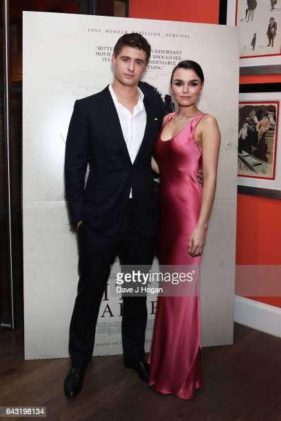 Max Irons and Samantha Barks attend the Gala Screening of 'Bitter Harvest' at Ham Yard Hotel on February 20 2017 in London England