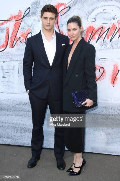 Max Irons and Sophie Pera attend The Serpentine Summer Party at The Serpentine Gallery on June 19 2018 in London England