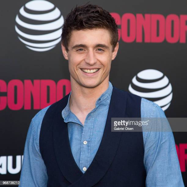 Max Irons arrives for the premiere of ATT Audience Network's 'Condor' at NeueHouse Hollywood on June 6 2018 in Los Angeles California