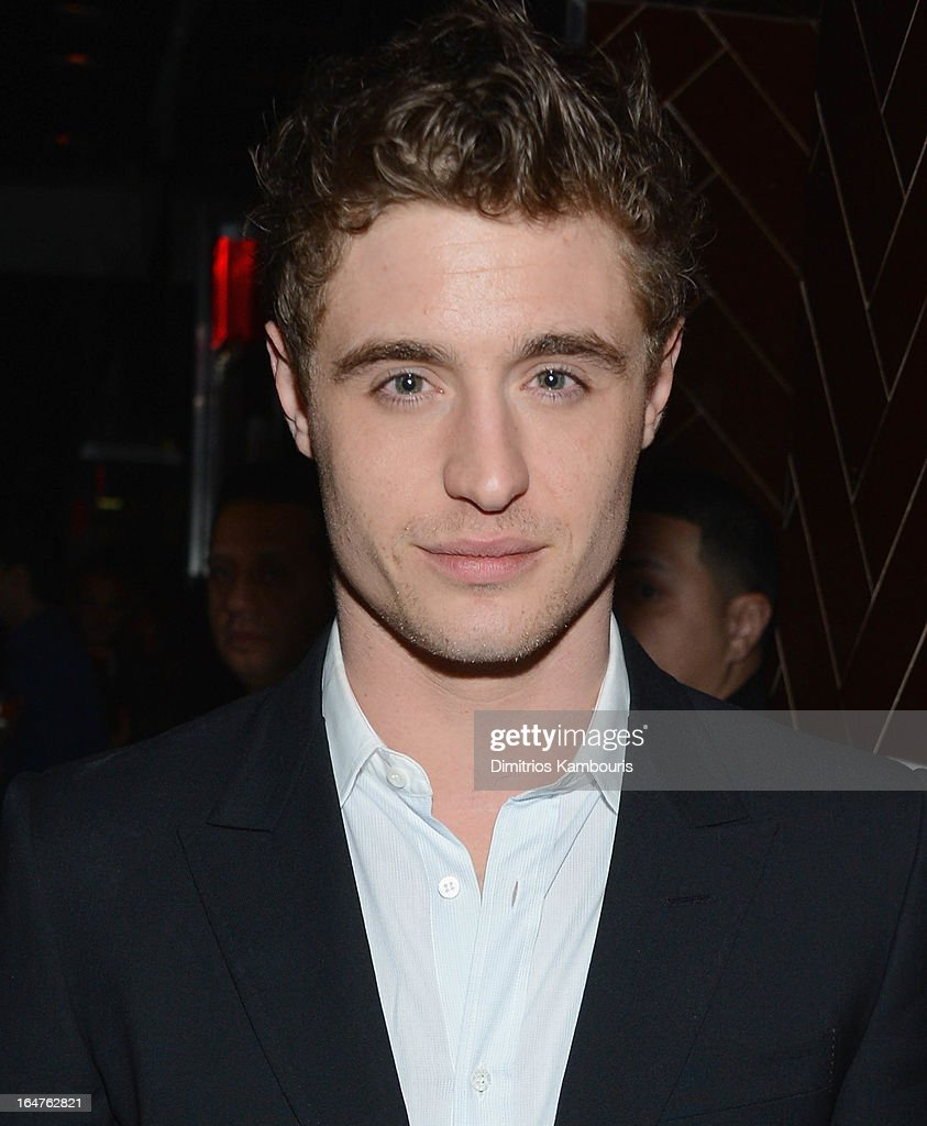 Max Irons attends the after party for The Cinema Society & Jaeger-LeCoultre screening of Open Road Films' 'The Host' at Jimmy At The James Hotel on March 27, 2013 in New York City.