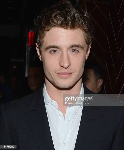 Max Irons attends the after party for The Cinema Society JaegerLeCoultre screening of Open Road Films' 'The Host' at Jimmy At The James Hotel on...