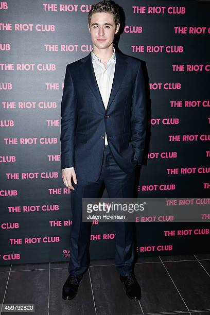 Max Irons attends 'The Riot Club' Paris Premiere at Mk2 Bibliotheque on December 1 2014 in Paris France