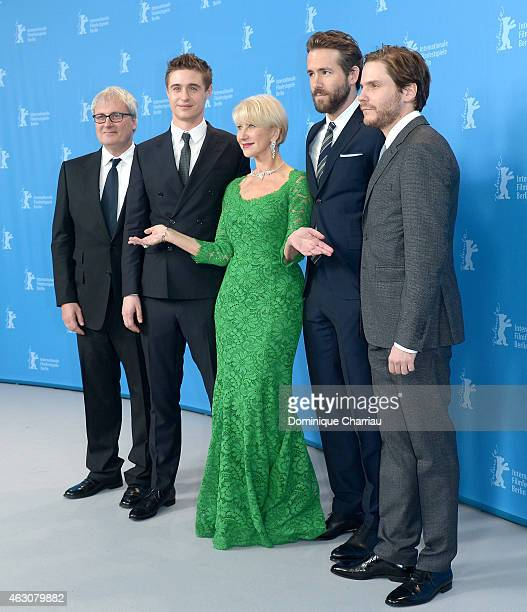Max Irons Helen Mirren Ryan Reynolds and Daniel Bruel attend the 'Woman in Gold' photocall during the 65th Berlinale International Film Festival at...