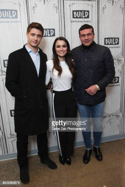 Max Irons Samantha Barks and Tamer Hassan attend Build Series to discuss 'Bitter Harvest' at Build Studio on February 16 2017 in New York City