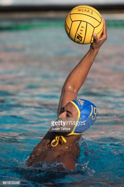 Max Irving looks to shoot the ball during the Division I Men's Water Polo Championship held at the Uytengsu Aquatics Center on the University of...
