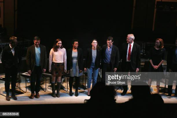Max Jenkins Raul Esparza Zoe Kazan Quincy Tyler Bernstine Keri Russell Hugh Dancy Victor Garber and Julie White at the curtain call for An American...