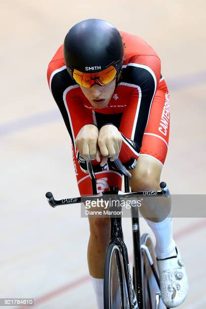 Max Jones of Canterbury competes in the Elite Men 4000m Individual Pursuit during the New Zealand Track Cycling Championships on February 21 2018 in...