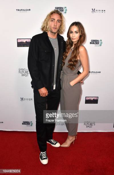 Max Joubert Jenna Veroni attend Vision Films' 'Living In The Future's Past' at Ahrya Fine Arts Theater on October 2 2018 in Beverly Hills California