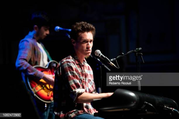 Max Jury performs on stage at Usher Hall on October 18, 2018 in Edinburgh, Scotland.