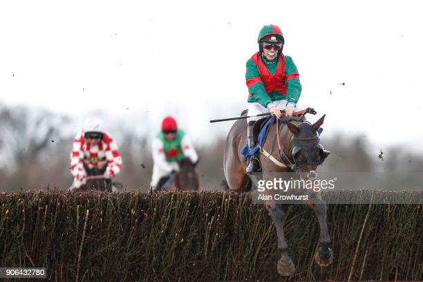 Max Kendrick riding Themanfrom Minella clear the last to win The Higos Insurance Services Somerset National Handicap Chase at Wincanton Racecourse on...