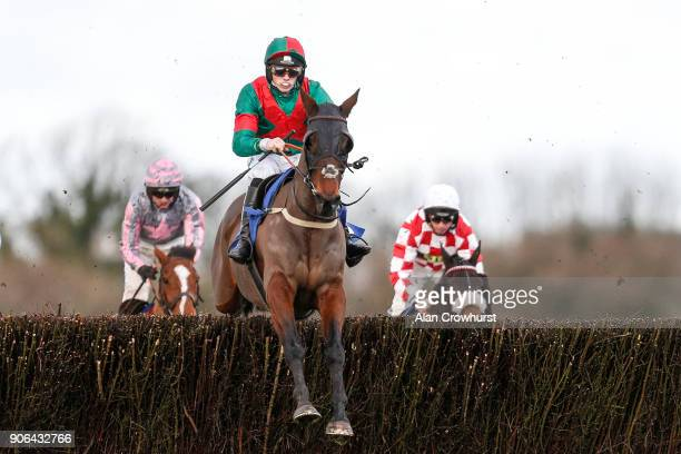 Max Kendrick riding Themanfrom Minella lead all the way to win The Higos Insurance Services Somerset National Handicap Chase at Wincanton Racecourse...