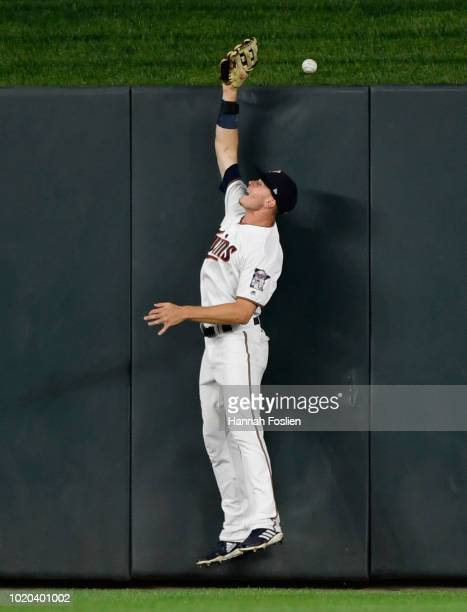 Max Kepler of the Minnesota Twins is unable to catch the tworun home run by Matt Davidson of the Chicago White Sox in center field during the seventh...