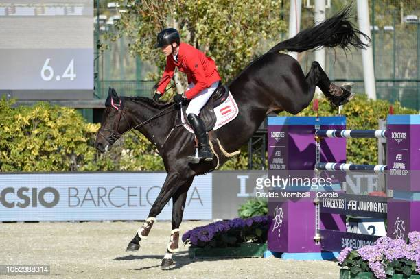 Max Kühner of Austria riding Psg Final during Longines FEI Jumping Nations Cup Final Competition on October 7 2018 in Barcelona Spain