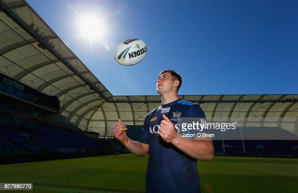 Max King poses for a photo during a Gold Coast Titans NRL media opportunity at Cbus Super Stadium on August 9 2017 in Gold Coast Australia