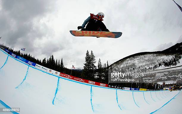 Max Kralj Kos of Slovenia competes in the qualifying round of the FIS Freestyle Snowboard World Cup 2015 men's snowboard halfpipe during the USSA...