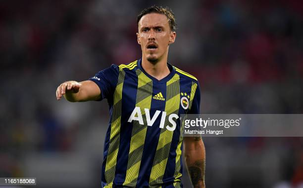 Max Kruse of Fenerbahce gestures during the Audi Cup 2019 semi final match between FC Bayern Muenchen and Fenerbahce at Allianz Arena on July 30 2019...